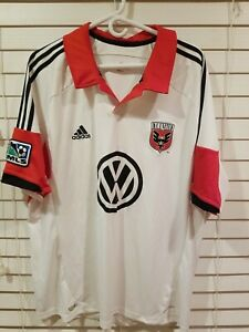 ADIDAS MLS SOCCER DC UNITED JERSEY Mens 2XL White ClimaCool