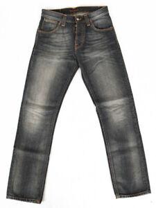 B-Ware | Nudie Herren Regular Fit Jeans Straight Alf Sandy Grey | W28 L30