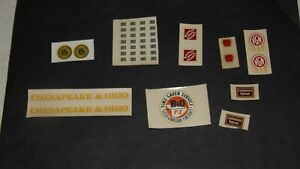 LIONEL LOT OF ORIGINAL DECALS #2340,2331,624,2356,GM,6464-400 AND MORE