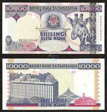 TANZANIA 10,000 10000 Shillings 1997 P-33 Giraffe UNC Uncirculated
