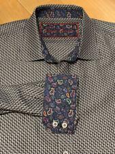 Robert Graham Flip Cuff Plaid Long Sleeve Button Front! Xxl 2xl Classic Fit