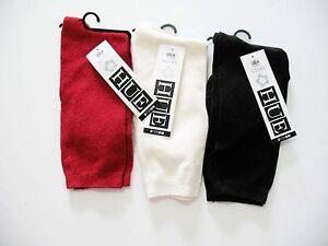 3 HUE Womens Crepe Socks Red Ivory Espresso U15673 One Size - NWT