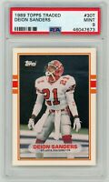 Deion Sanders Atlanta Falcons 1989 Topps Traded Football Rookie Card #30T PSA 9