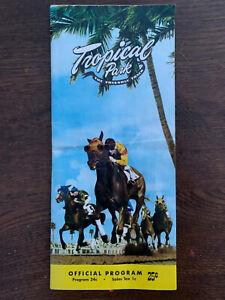 January 6th, 1958 TROPICAL PARK RACE COURSE OFFICIAL PROGRAM, Coral Gables / Mia