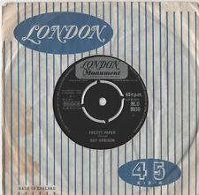 "Roy Orbison - Pretty Paper 7"" Single 1964"