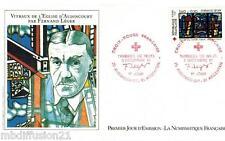 1981//FDC ENVELOPPE 1°JOUR**F.LEGER-EGLISE-VITRAUX**TIMBRE Y/T 2176