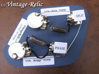 JP Gibson Les Paul Wiring Kit K40Y caps CTS short 550k SPLIT + PHASE push pull