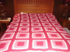 Granny Square Pattern Handmade Handcrafted Crochet  Afghan Throw Blanket