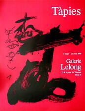 TAPIES Antoni affiche originale en lithographie 83 abstraction art abstrait