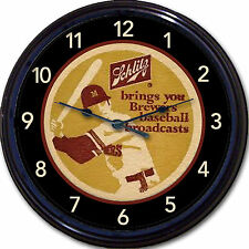 Milwaukee Brewers Schlitz Beer Coaster Wall Clock Braves TV Radio Baseball MLB