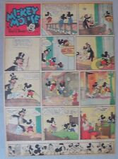 Mickey Mouse Sunday Page by Walt Disney from 4/23/1939 Tabloid Page Size