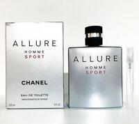 CHANEL ALLURE HOMME SPORT EDT Eau De Toilette 5ML TRAVEL SPRAY PERFUME SAMPLE