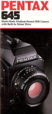 PENTAX 645 SLR 6 X 4.5 FORMAT CAMERA BROCHURE -PENTAX 645 CAMERA