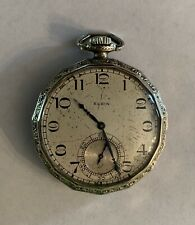 Vintage 1925 Elgin Tivoli 14K Gold Filled Pocket Watch Grade 303