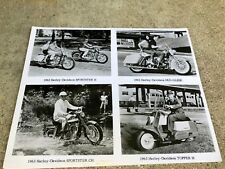 Harley Davidson Motorcycle 8x10 B&W photo #20 - TOPPER - SPORTSTER - DUO-GLIDE