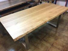 Eiche Esstisch mit Baumkanten voll massiv 200 x 100 cm