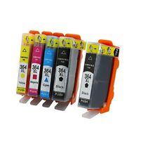 5 Cartuchos de tinta para HP 364 XL DeskJet 3070A 3520 con chip Non Oem