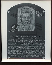 Willie Mays Hall of Fame Monument 8 X 10 Photo