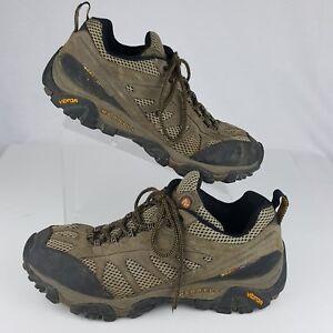 Merrell 10.5 Hiker Men's Brown Mesa Ventilator II Suede Mesh Low Trail Vibram