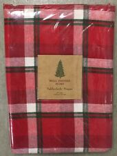 """Well Dressed Home Red White Green Tartan Plaid Tablecloth 60"""" X 84"""" Christmas"""