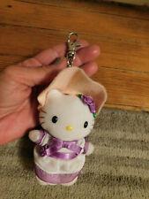 "Hello Kitty Nakajima Keychain Clip Plush Praire Girl w bonnet 4"" Sanrio 2003"