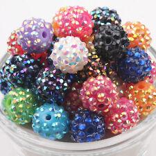 12mm Mixed Disco Ball Rhinestones Acrylic Spacer Beads Jewelry Making DIY,10pcs