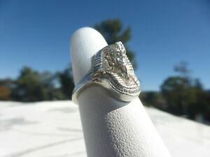 WONDERFUL Sterling Silver Egyptian Pharaoh Ring Size 6 Great detail and on