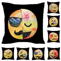 Emoji Mermaid Pillow Sequins Cover Reversible Sofa Cushion Case Decor DQCA