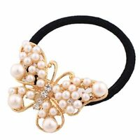 Band Alloy Lovely Sweet White Pearl Hair Jewelry Hair Accessories Hair Rope