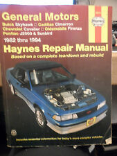 Haynes Manuals: General Motors J-Cars, 1982-1994 : Buick Skyhawk, Cadillac Cimar