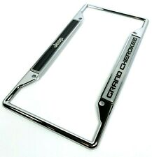 Fit Jeep Cherokee Chrome License Plate Frame with Cap Stainless Steel
