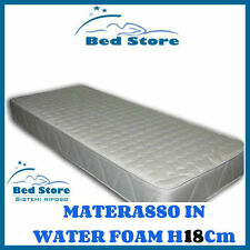 MATERASSO LETTO WATER FOAM H18 160X190CM ANALLERGICO ORTOPEDICO MADE IN ITALY