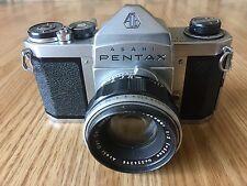 Vintage ASAHI PENTAX CAMERA S1 With AUTO TAKUMAR 1:2 F=55mm Lens