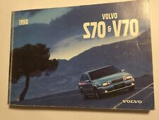 VOLVO S70 & V70 OWNERS MANUAL DRIVERS HANDBOOK 1998 PETROL DIESEL AWD TURBO
