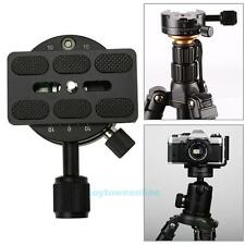 360 Degree Panoramic Panning Head Clamp Quick Release Plate for DSLR Camera Base