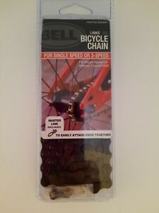 "Bell Links 300 Bicycle Chain For Single Speed or 3-Speed 1/2""x1/8"" & Master Link"