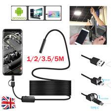 USB IP67 Endoscopio Boroscopio Snake Inspección Cámara Android Teléfono Móvil PC Unido