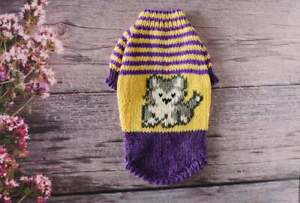 Sweater for kitten Knitted cat clothes