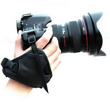 PU Leather Hand Wrist Grip Strap for Nikon Canon Pentax Minolta Fuji DSLR