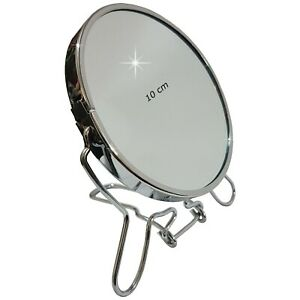 Cosmetic Shaving Mirror Double Sided Plain Magnifying 360° Rotation Freestanding
