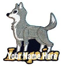Lobo Custom Hierro-Sobre Parche con Nombre Personalizado Gratis