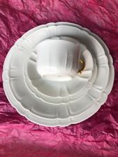 Haviland limoges France China White Scalloped, (1) 5 pc. Place Set,GOLD CUP,BOWL