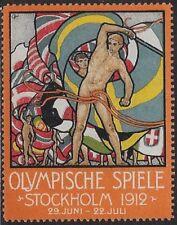 """Sweden Cinderella stamp: Olympische Spiele Games """"Stockholm 1912"""" - cw50.26"""