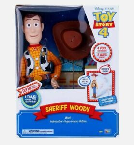 Toy Story Sheriff Woody with Interactive Drop Down Action - 16.5 inch Talking