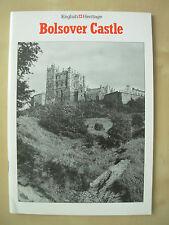 VINTAGE TOURIST GUIDE BOLSOVER CASTLE DERBYSHIRE