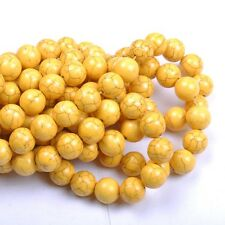 30PCS Yellow TURQUOISE ROUND Charms Loose Spacer BEADS 8MM