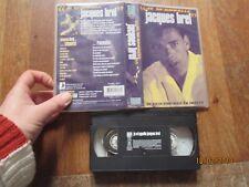 CASSETTE VIDEO VHS MUSIQUE JACQUES BREL je m appelle auto portrait en images