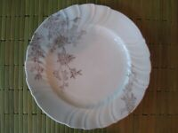 Antique Carlsbad China Austria Floral Porcelain Dinner Plate Moriage Embossed
