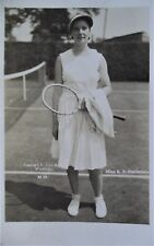 STAMMERS KAY 1930's ORIGINAL VINTAGE PHOTOGRAPHIC TENNIS POSTCARD