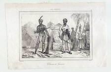 Sulawesi-Célebes-Guerrero-etnología - acero clave 1836